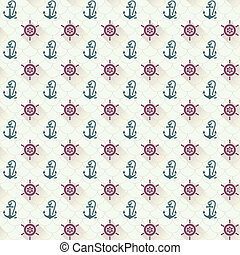 Seamless patterns, anchors, with shadow