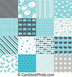 Seamless Patterns, Digital Scrapbook