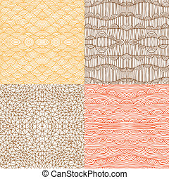 seamless patterns in earth colors