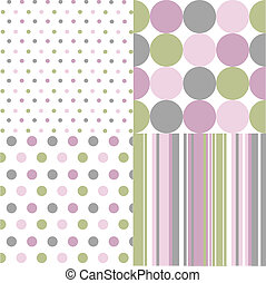seamless patterns, polka dots