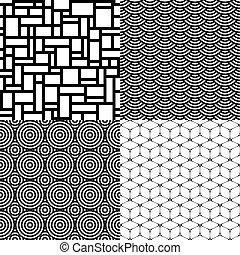 Seamless patterns. Set 1. Abstract geometric.