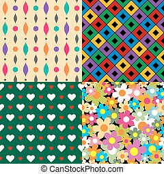 Seamless patterns. Set 3. Abstract colorful.