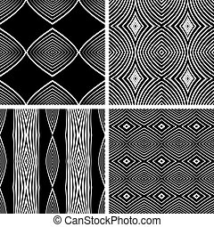 Seamless patterns set. Vector art.