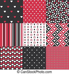 Seamless patterns Valentine's Day