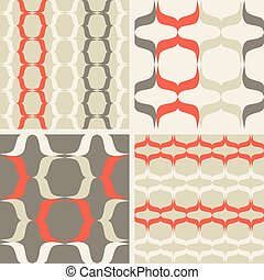 Set of seamless patterns in the style of minimalism
