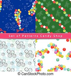 Seamless patterns with dragee