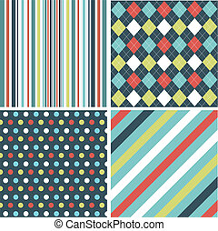 seamless patterns with fabric textu