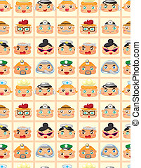 seamless people face pattern