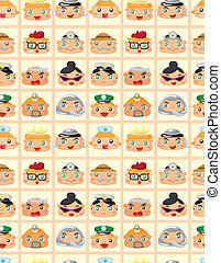 seamless people face pattern