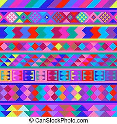 Seamless peruvian texture, vector Eps8 image.