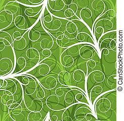 seamless, pflanze, muster, vektor