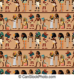 seamless pharaoh pattern  - seamless pharaoh pattern