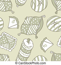 Seamless pillows pattern