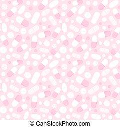 Seamless pills pattern