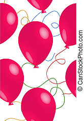 Seamless Pink Ballon Background