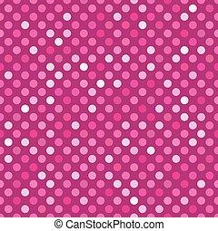 Seamless pink dot pattern background