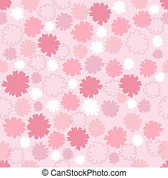 seamless pink floral pattern background.