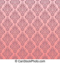 Seamless pink floral pattern - Illustration vector