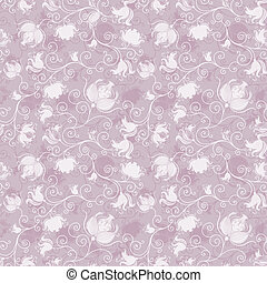 Seamless pink floral pattern