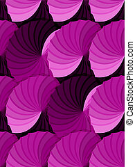 Seamless pink gradient rosettes pattern