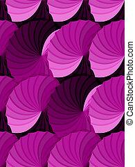 Seamless pink gradient rosettes pattern