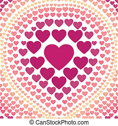 seamless pink heart abstract backgr