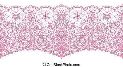 Seamless pink lace