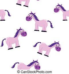 Seamless pink princess horse patter