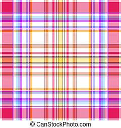 Seamless pink, yellow and blue pattern