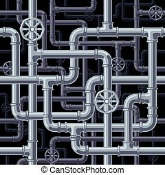 Seamless pipes background