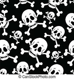 Seamless pirate theme background 1