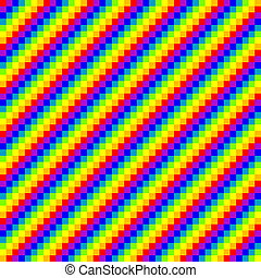 seamless pixel rainbow background, vector illustration