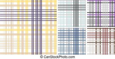 Seamless plaid fabric pattern background