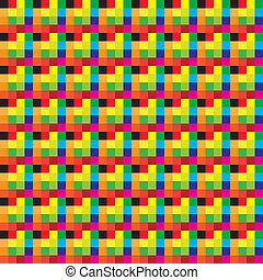 Seamless plaid of colors