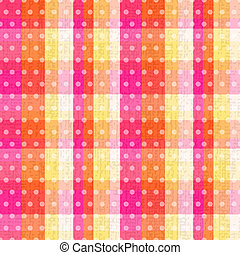 seamless plaid polka dots texture