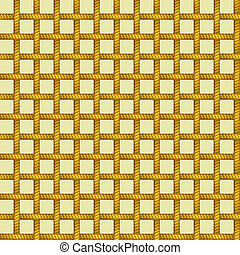seamless plaid rope net pattern