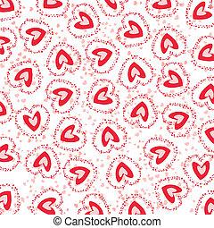 seamless, plano de fondo, con, corazones