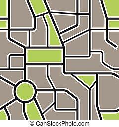 seamless, plano de fondo, de, resumen, mapa ciudad