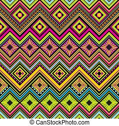seamless, plano de fondo, zigzag, mexicano
