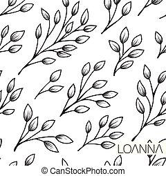 Seamless plant pattern.