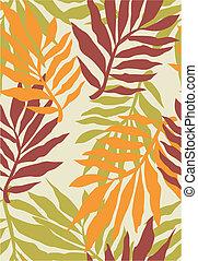 seamless, planta tropical, patrón
