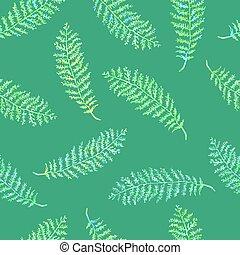 seamless, plantas, patrón, hierbas