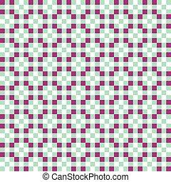 Seamless Plum and Mint Vintage geometric block pattern