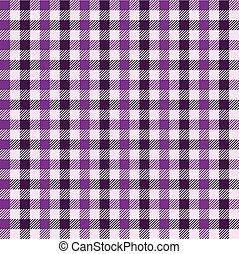 Seamless plum gingham pattern.