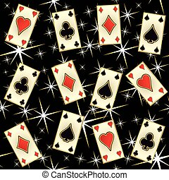 Seamless poker casino pattern