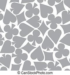 Seamless Poker Pattern Background (grey)