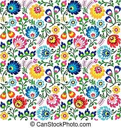 Seamless Polish folk art pattern - Repetitive background...