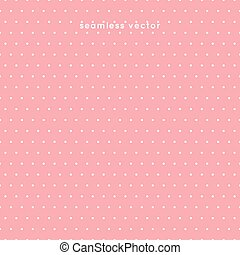 seamless Polka dot pattern on pink background, vector