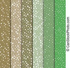 Seamless polka dot patterns.