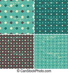 Seamless Polka Dot Patterns Collect - A set of four seamless...